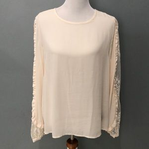 Beautiful Long Sleeve Top With Lace Detail